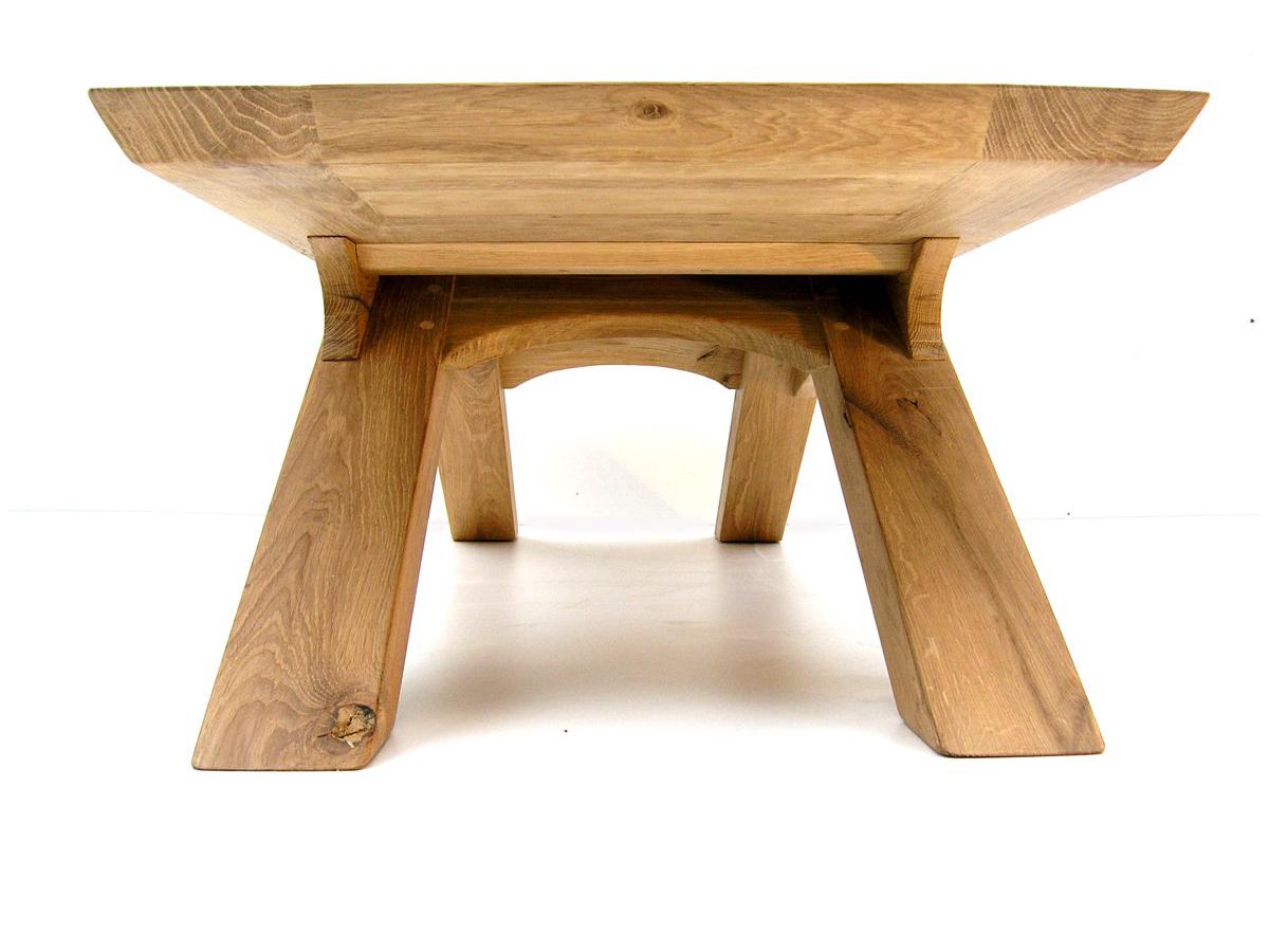 oak arch leg coffee table | makers bespoke furniture