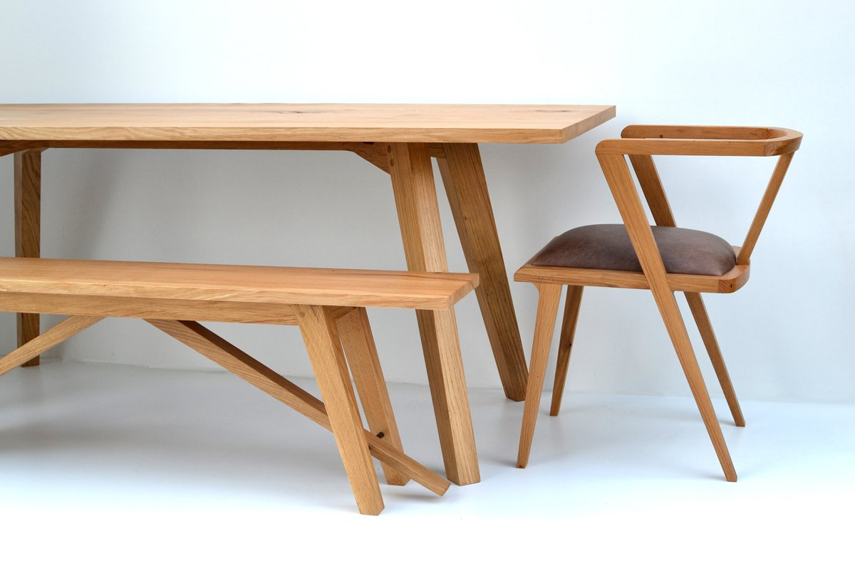 Oak Dining Table ~ Chiswick oak dining table bespoke contemporary