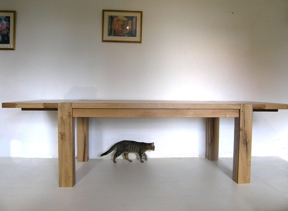 Contemporary Bespoke Dining Table Handmade Oak Kitchen