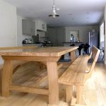 contemporary-refectory-table-photograph-taken-on-delivery-a-custom-made-3-metre-table-with-zen-benches-with-backs-to-match