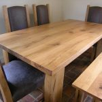 Bespoke dining table with chairs and benches