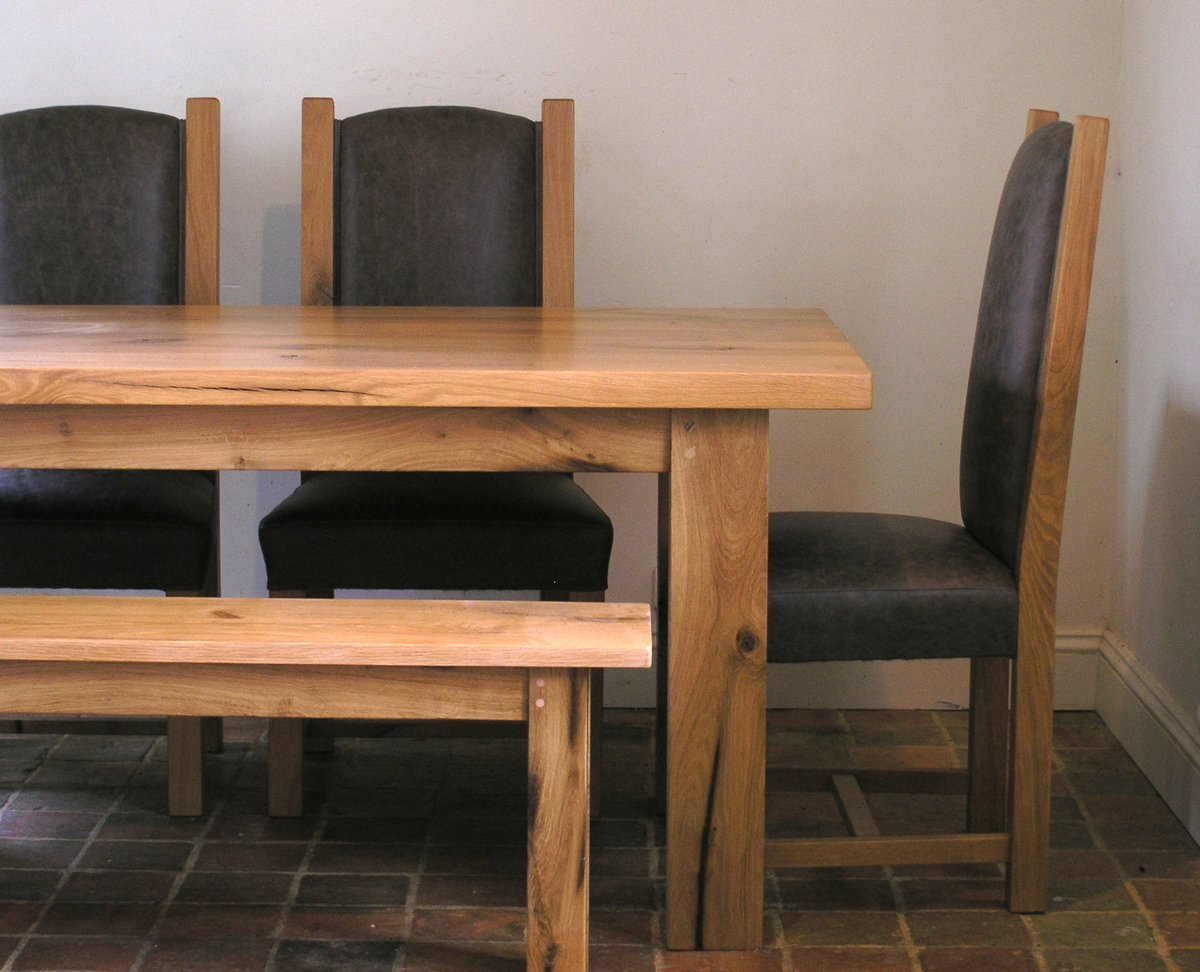 Bespoke Oak Dining Bench Handmade Dining Room Kitchen Benches