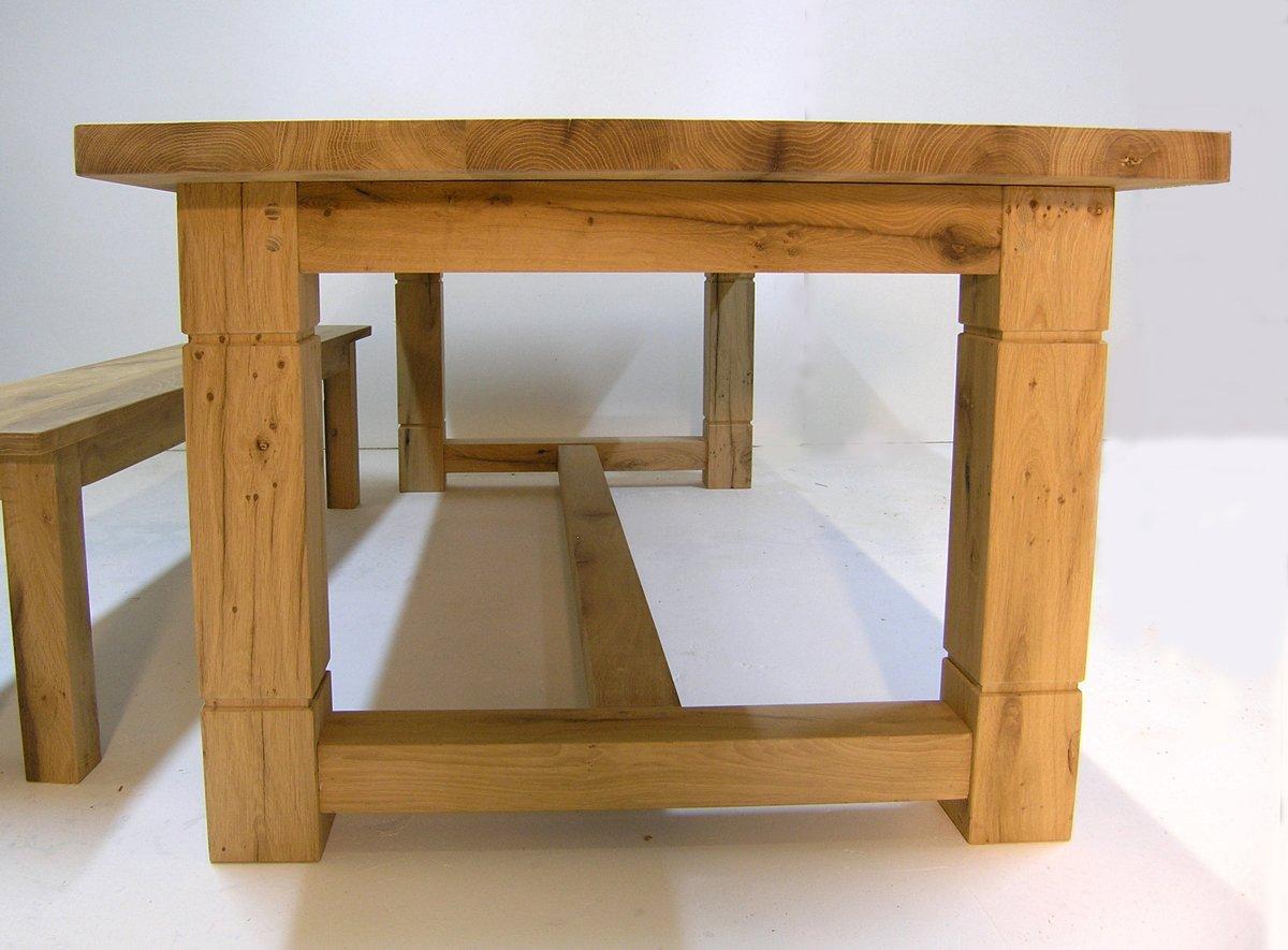 Bespoke oak refectory table