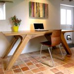 Arch Leg Dining Table of Bespoke Oak Office Desk