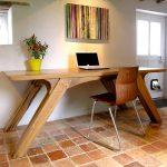 Arch Leg Dining Table of Bespoke Oak Office Desk