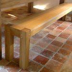 Oak kitchen bench