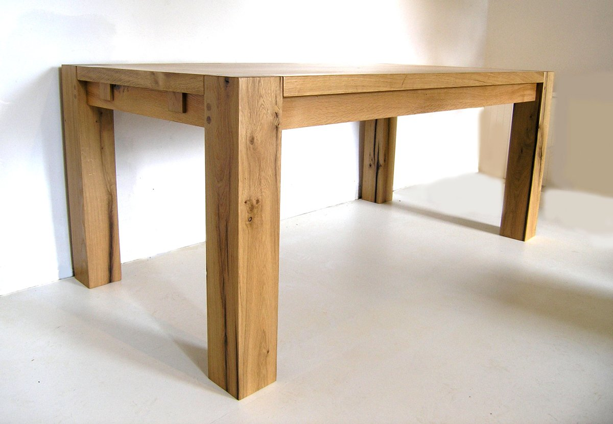 Contemporary bespoke oak dining table french oak table for Contemporary table