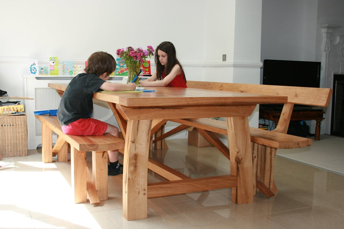Bespoke Refectory Table Handmade Oak Dining Room