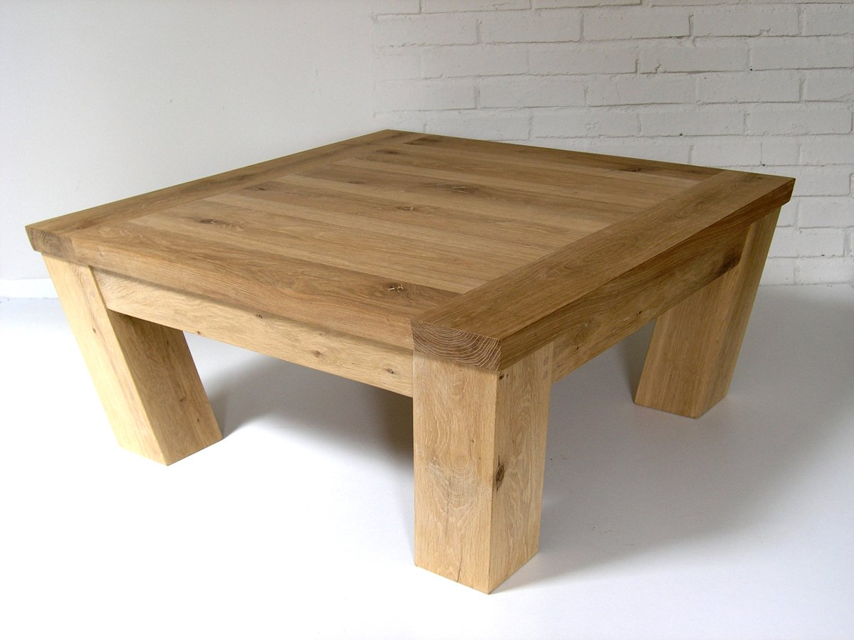 Oak square coffee table makers bespoke furniture
